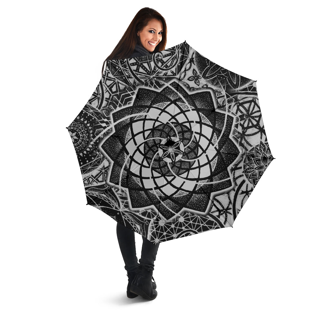 Spiral Constellation Umbrella black