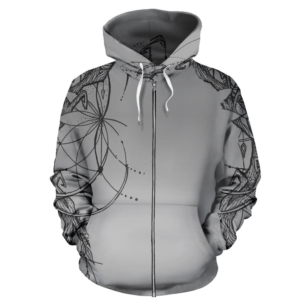 Seeds of Mystery Tree Hoodie Zipper