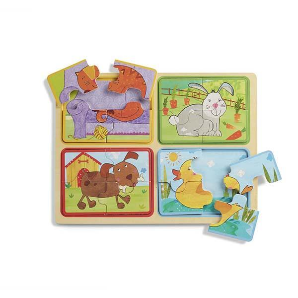 Puzzle Animales Amigables