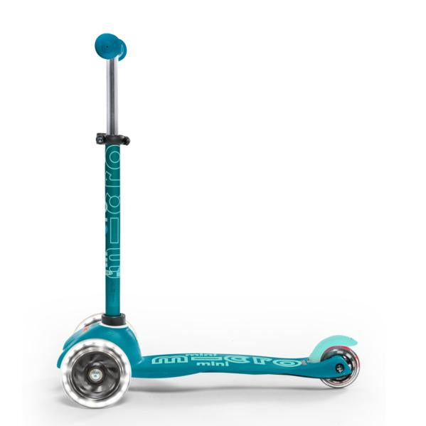 Scooter Mini Deluxe Con Luces Led - Aqua