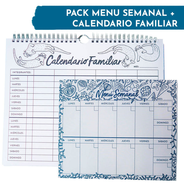 Pack Menú + Calendario Familiar