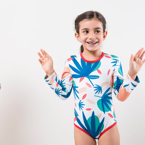 Traje Baño Manga Larga Tropical