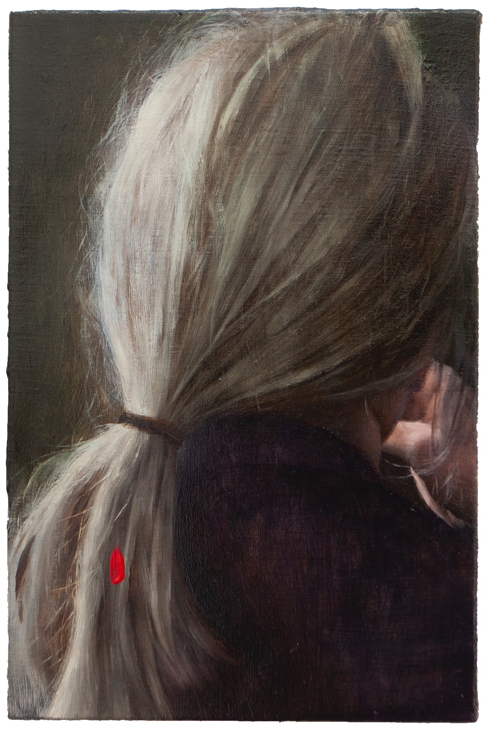'PORTRAIT OF LADY WITH RED FLEECE ON HER BRAID'-LINGRUI ZHANG-SAINT MAISON