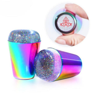 Rainbow Handle Nail Polish Printing - shopaholicsonlyco