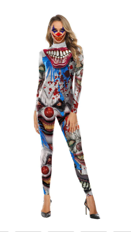 Halloween Outfit Skeleton Costumes Scary Bodysuit - shopaholicsonlyco