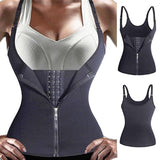 Adjustable Shoulder Strap Waist Trainer Vest - shopaholicsonlyco