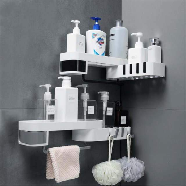 1 pcs Corner Shower Shelf - shopaholicsonlyco