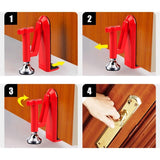 Portable Door Closer Jammer Lockdown Lock-Security Device - shopaholicsonlyco