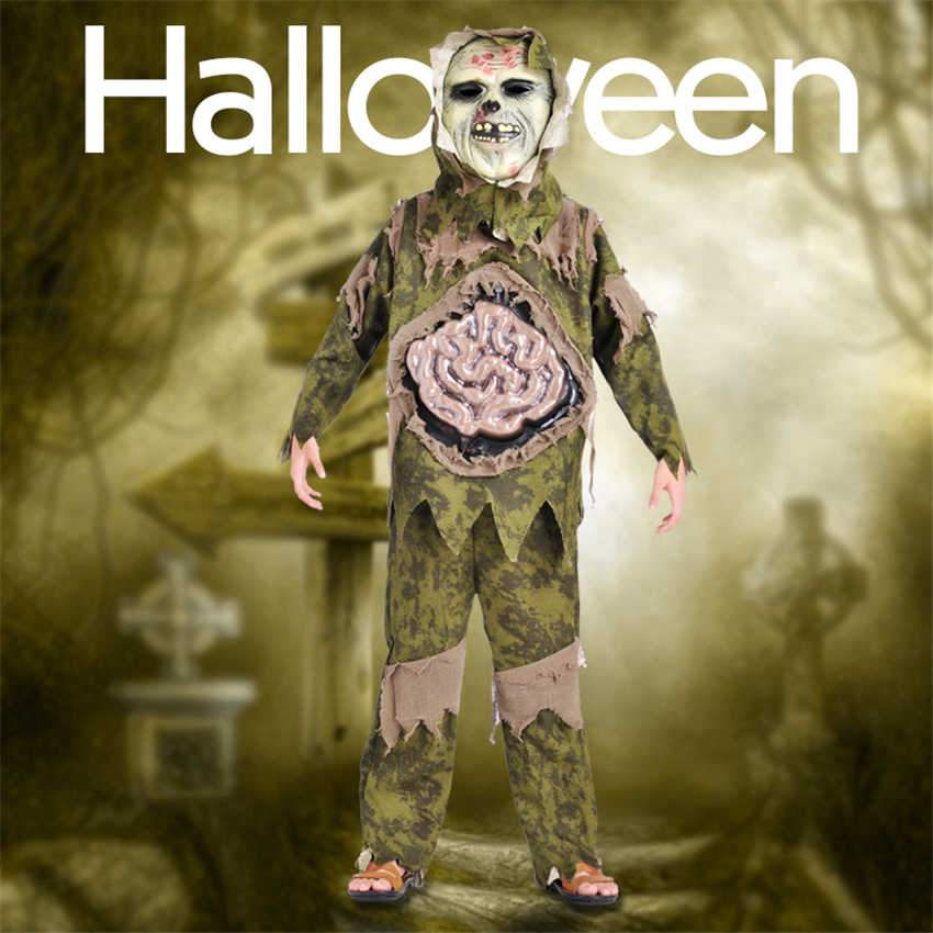 Scary Zombie Swamp Monster Cosplay Costume for Kids - shopaholicsonlyco