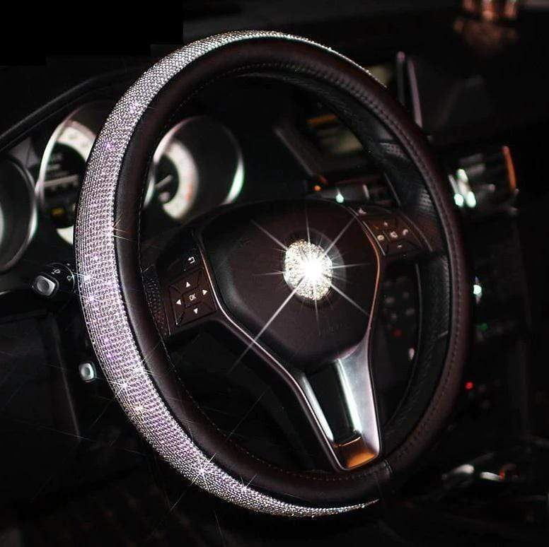 SWAROVSKI CRYSTAL STEERING WHEEL COVER - shopaholicsonlyco