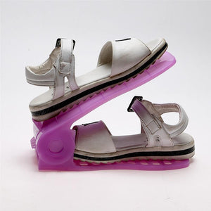 Double Integrated Rack Shoe Holder - shopaholicsonlyco