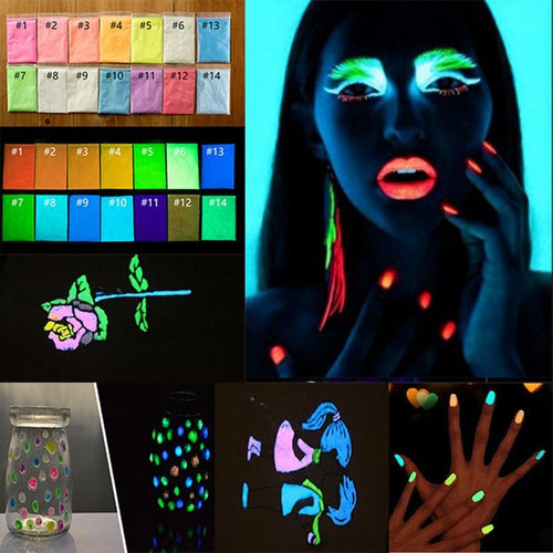 17pcs Luminous Nail Polish Powder - shopaholicsonlyco