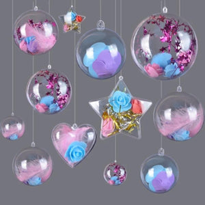 10set A+ Christmas Ornament Ball Transparent - shopaholicsonlyco
