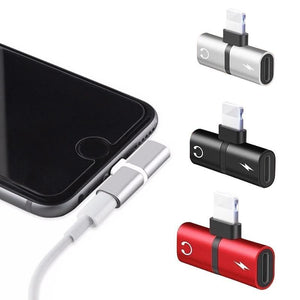 2 in 1 Lightning iPhone Adapter - shopaholicsonlyco