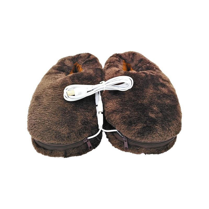 Heating Plush Slipper - shopaholicsonlyco