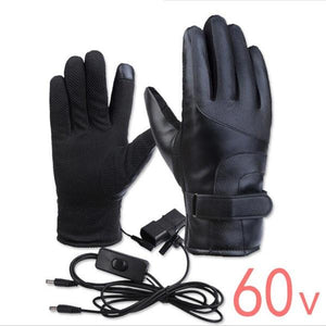 Winter Heated Gloves Unisex ON/OFF Switch With LED - shopaholicsonlyco