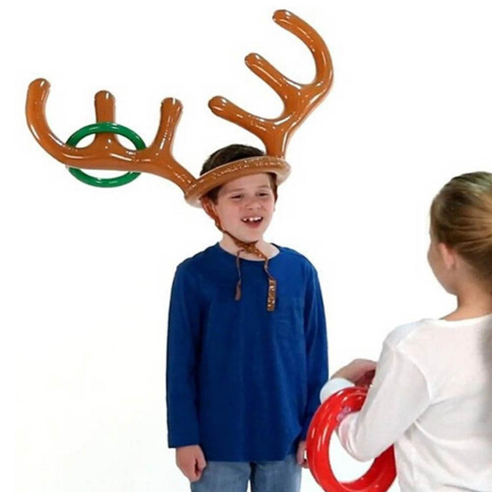 Inflatable Reindeer Christmas Hat - shopaholicsonlyco