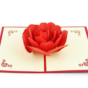 Rose Popup Card - shopaholicsonlyco