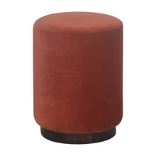 Load image into Gallery viewer, Lulu Footstool with Wooden Base
