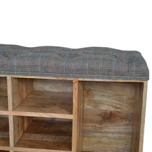 Load image into Gallery viewer, Multi Tweed 6 Slot Shoe Cabinet/Bench