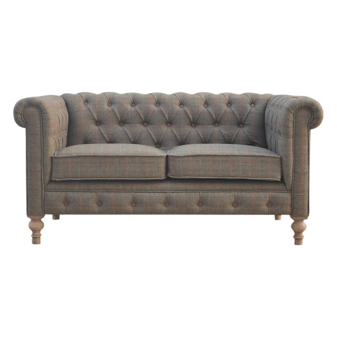 Timeless 2 Seater Multi Tweed Chesterfield Sofa