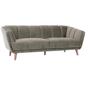 Sparrow 3-Seater Grey Velvet Sofa