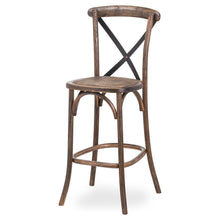 Load image into Gallery viewer, Oaklahoma Oak Cross Back Bar Stool