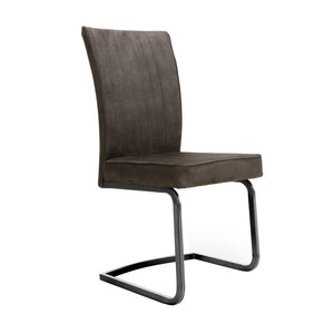 2 x Marlin Cantilever Brown Dining Chair
