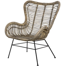 Load image into Gallery viewer, The Bali Collection Full Rattan Wing Chair
