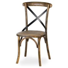 Load image into Gallery viewer, Oak Cross Back Dining Chair