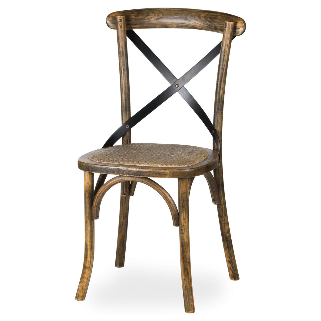 Oak Cross Back Dining Chair