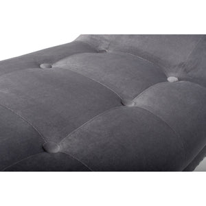 Mulberry Medium Brushed Velvet Grey Chaise