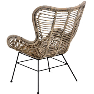 The Bali Collection Full Rattan Wing Chair