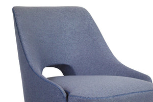 Chloe Blue Fabric Armchair