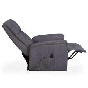 Yorke Grey Fleck Effect Recliner