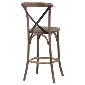 Oaklahoma Oak Cross Back Bar Stool