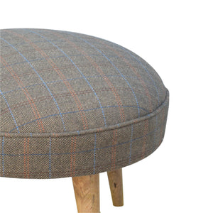 Laila Multi Tweed Footstool