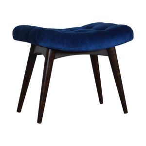 Kelso Velvet Curved Bench