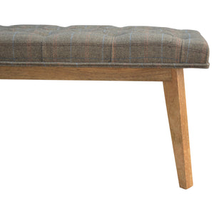 Lipton Multi Tweed Deep Button Bench