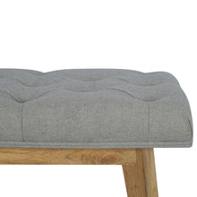 Load image into Gallery viewer, Fulton Grey Tweed Bench with 1 Drawer
