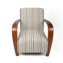 Load image into Gallery viewer, Restmore Chenille Stripe Duck Egg Armchair