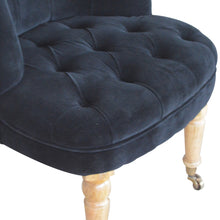 Load image into Gallery viewer, Black Velvet Accent Chair