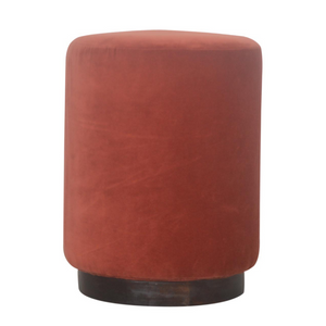 Lulu Footstool with Wooden Base