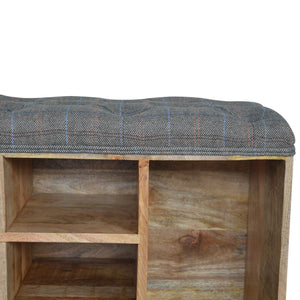 Multi Tweed 6 Slot Shoe Cabinet/Bench