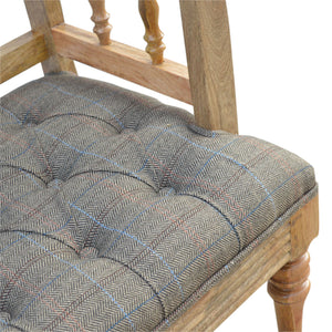 Multi Tweed Deep Button Bench