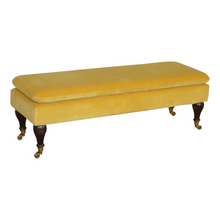 Load image into Gallery viewer, Porto Velvet Bench With Castor Feet