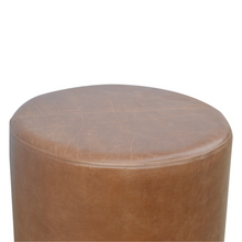 Load image into Gallery viewer, Campo Footstool with Gold Base