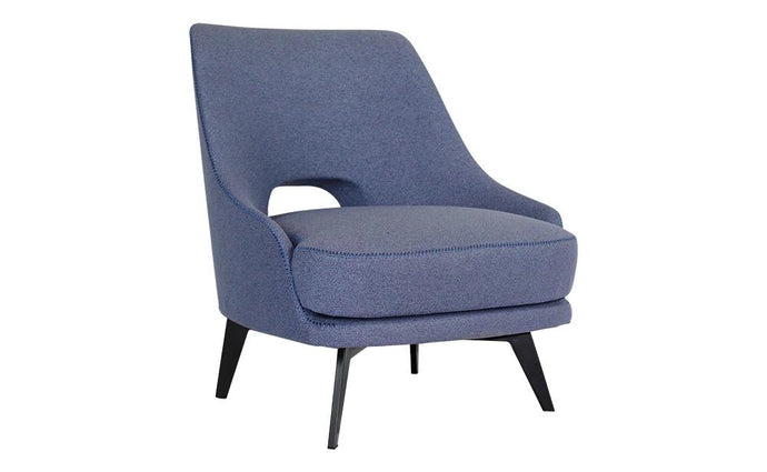 Willow Blue Fabric Armchair