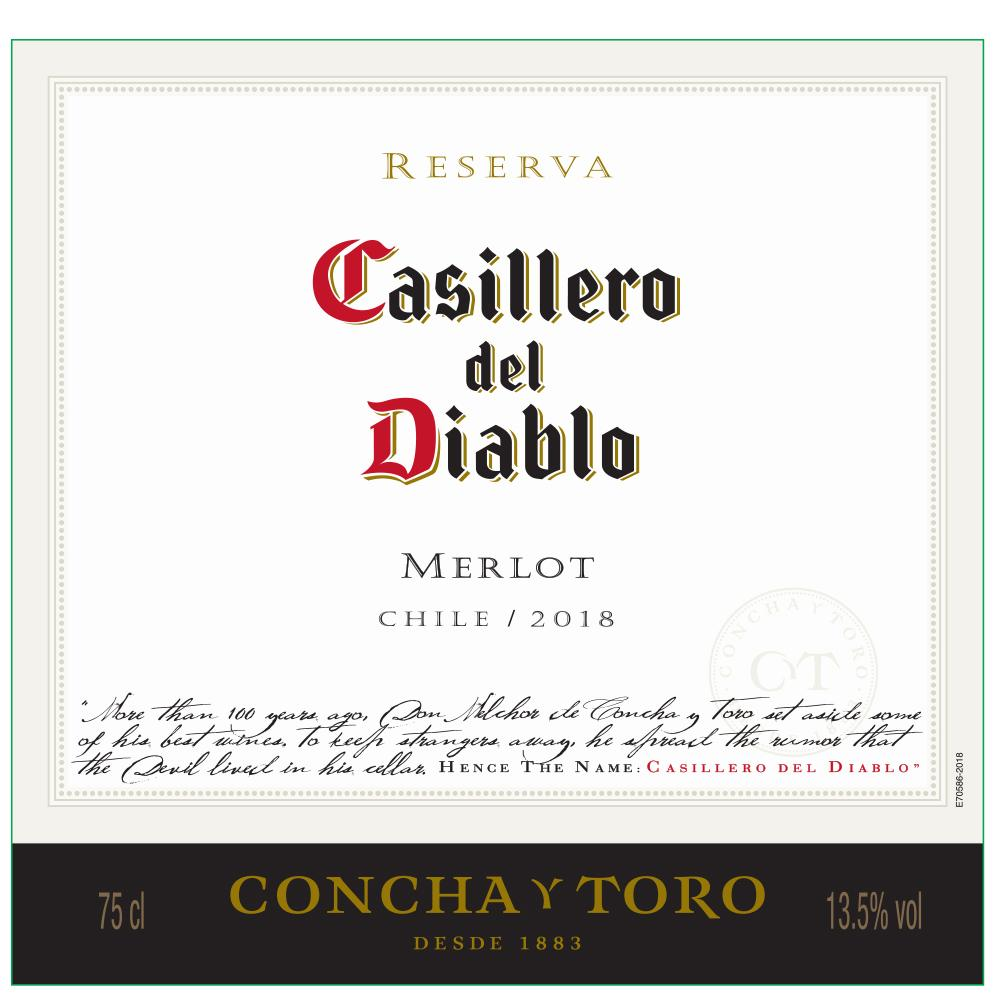 Casillero Del Diablo Reserva Valley Central Merlot 2018