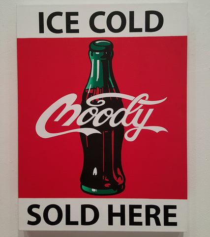 "Moody Cola ""SOLD HERE"" 50% off"